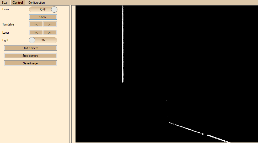 Dunkles Objekt Laserbild