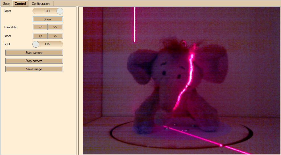 Wenig Licht mit Laser