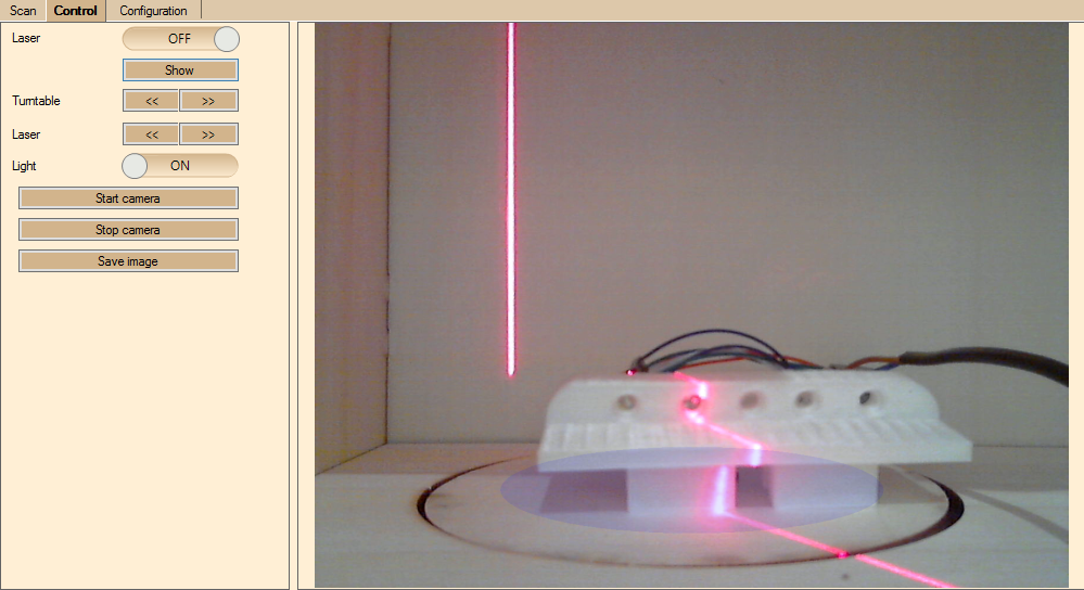 Mittleres Licht mit Laser