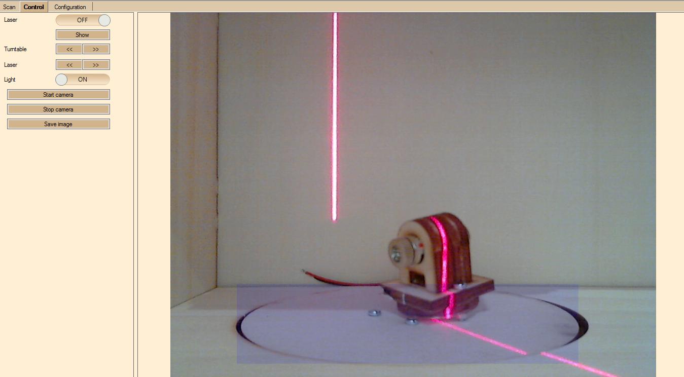 Manueller Modus - Laserbild