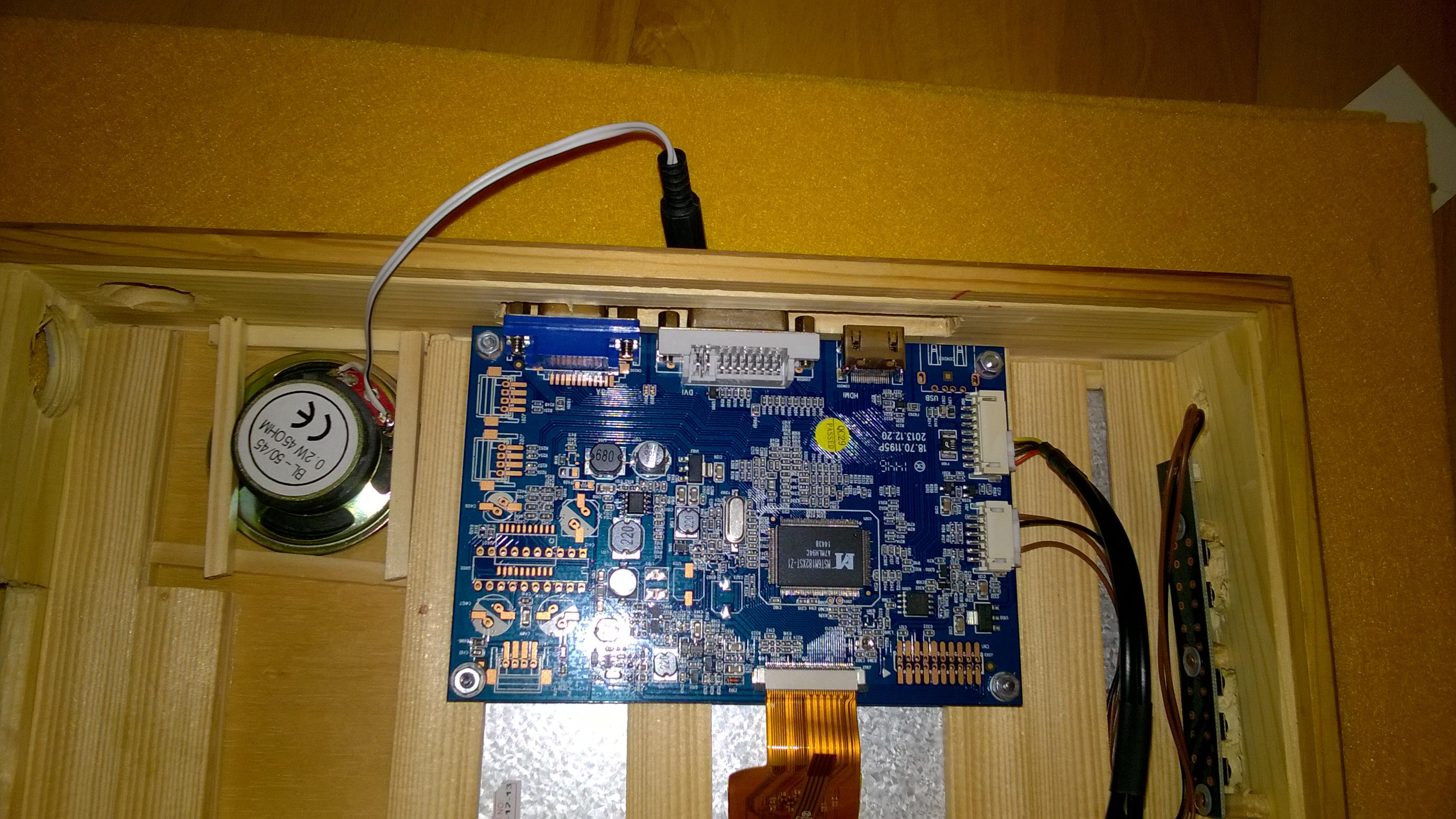 Einbau Displayboard